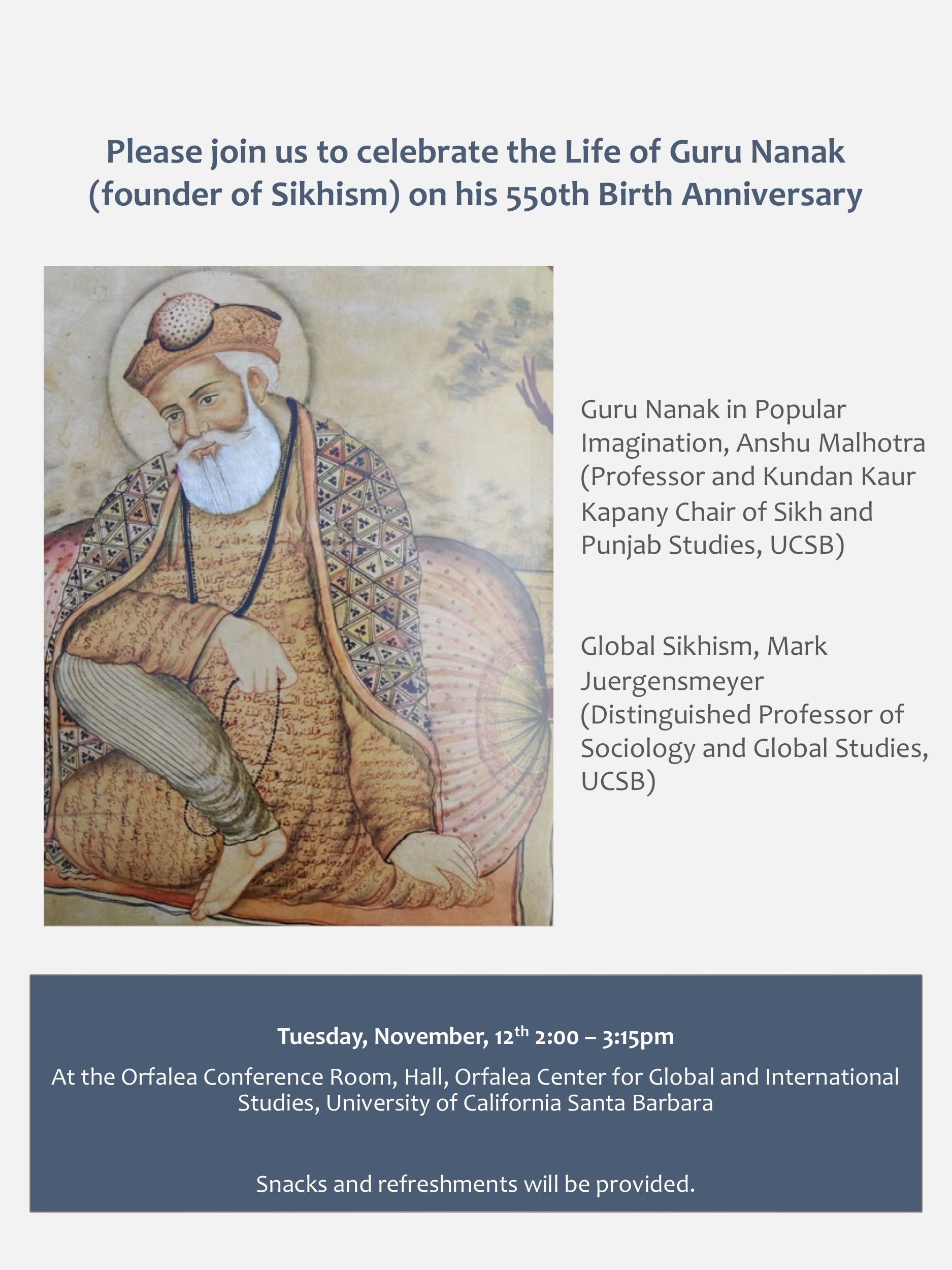 Slide : Guru Nanak Birthday poster